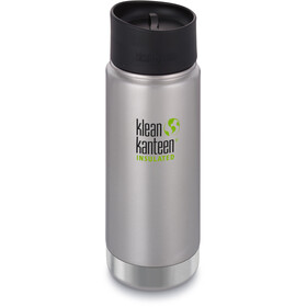 Klean Kanteen Wide Vacuum Insulated Borraccia con tappo per caffè 2.0 473ml, brushed stainless